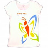 India.Arie Ladies White Scoop Neck Tee