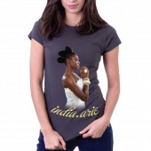India Arie Ladies Charcoal Tee