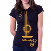 India Arie Black Tee- Guitar