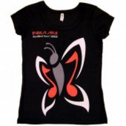 India.Arie Ladies Black Scoop Neck Tee